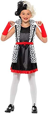 DISBACANAL Disfraz Cruella de Vil para niña - -, 10-12 años ...