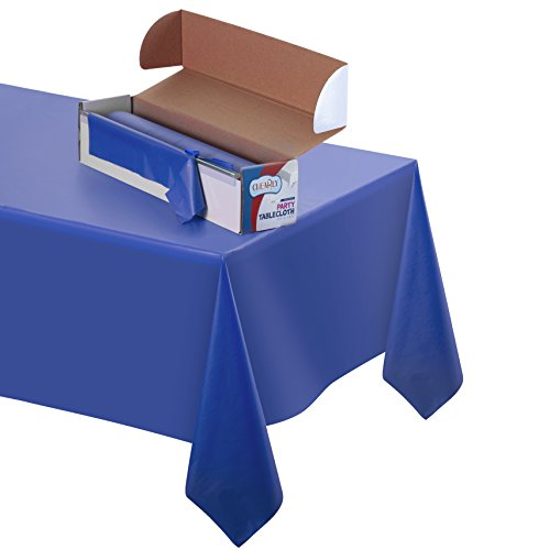 Disposable Table Cover: Durable Plastic Indoor/Outdoor Tablecloth 100' X 52