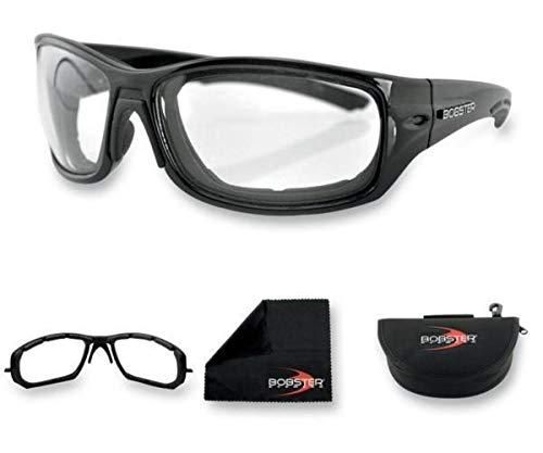 Bobster Rukus Photochromic Sunglasses, Black Frame/Smoke Lens (Bobster Motorcycle Womens Sunglasses)