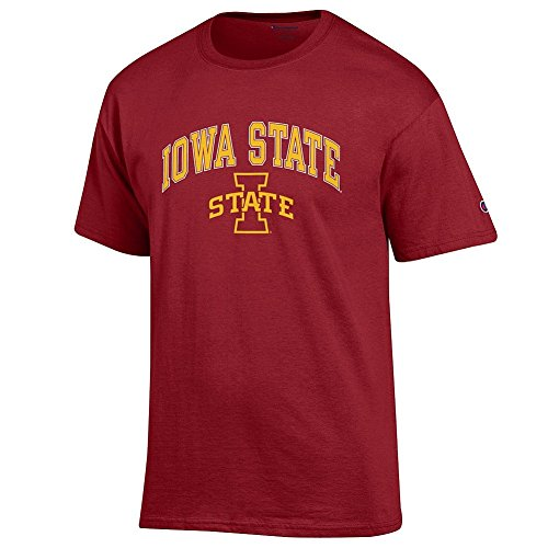 Elite Fan Shop NCAA Men's Iowa State Cyclones T Shirt Team Color Arch Iowa State Cyclones Cardinal Large
