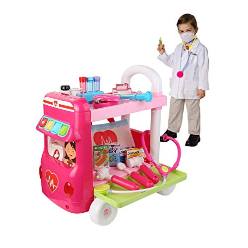 Roxie Limited Doctor Cart Pretend Play Set for