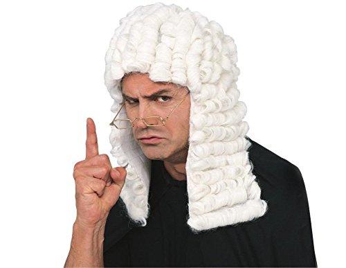 Rubie's Retro Judge Wig, White, One Size