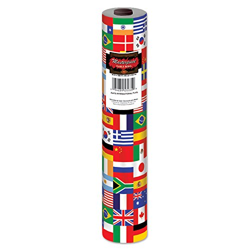Beistle International FlagTable Roll, 40-Inch by 100-Feet, Multicolor