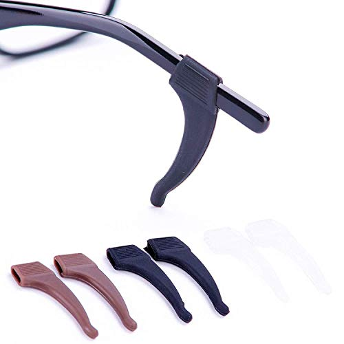 Anti-Slip Glasses Ear Hook Grip - 3 Pack - Stretch Fit for Sunglasses and Glasses ()