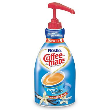Creamer Pump Dispenser - Nestle : Coffee-Mate Liquid Coffee Creamer, Pump Dispenser, French Vanilla 1.5 Liter -:- Sold as 2 Packs of - 1 - / - Total of 2 Each