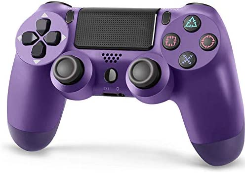 Roonboit PS4 Wireless Controller,Game Controller Joystick with 1200 mAh Battery/Vibration Turbo/Built-in Speaker/USB Cable/Mini LED Indicator for Playstation 4/Pro/Slim/PS3 Console (Purple)