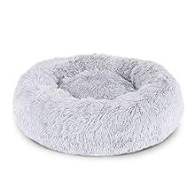 Dibea Cama Perros Redonda cojín Gatos sofá para Perros Donut Ø 50 cm dimensión Exterior (M) Gris Claro