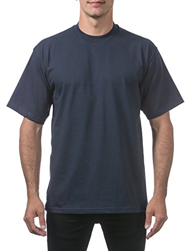 - Pro Club Men's Heavyweight Cotton Short Sleeve Crew Neck T-Shirt, 5XL - Tall, Navy