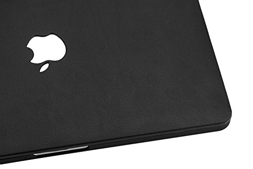 KEC Laptop Case for MacBook Pro 13'' (2018/2017/2016) Italian Leather Cover A1989/A1706/A1708 Touch Bar (Black Leather) by KEC (Image #5)