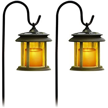 Amazon Com Flicker Candle Solar Lights Pair