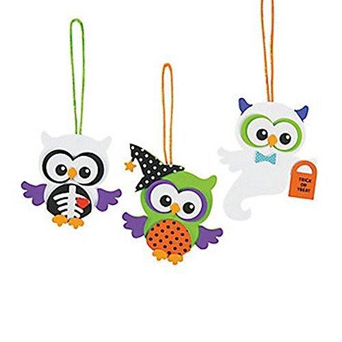 Foam Monster Owl Ornament Craft Kit (Makes 12)Halloween