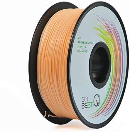 3DBEST-QTPU1.75mm3Dプリンタ用フィラメント一共通の消耗品、高精度+/-0.03mm、高品質、正味重量1kg/リール、ゴム弾性体7色選択可(肌の色)