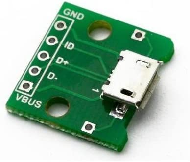 Micro USB-B Female to DIP 5 Pin 2.54mm SMD Extension PCB Adapter Board