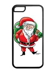 Iphone 5C Case,Big Nose Christmas Santa Claus Presents Bag Iphone 5C TPU Silicone Cases