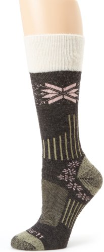 Carhartt Women's Snow Flake Sherpa Cuff Graduated Compression Boot Socks,  Charcoal, Shoe: - Snow Cuff