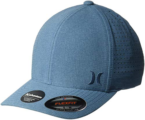 Hurley Men's Phantom Ripstop Curved Bill Baseball Cap, Obsidian/Black, L-XL (Surfing Baseball Caps)