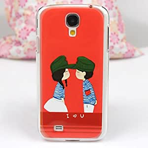 QYF Samsung S4 I9500 compatible Graphic/Special Design/Transparent Plastic Back Cover