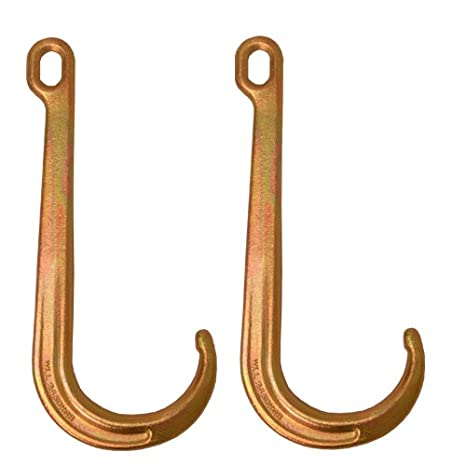 Wrecker Roll Back Car Carrier Hooks 2 15 Heavy Duty J Hooks Towing