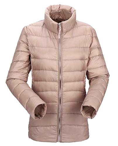Collar Down 4 Coat Ultralight EKU Stand Women's Jacket Puffer Packable xvcqS4SwFY