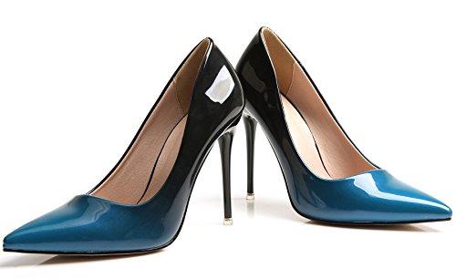 Gradients Pointu Robe Talons Stiletto Bleu Femmes De Bigtree Chaussures Escarpins Hauts 0Uw1cT