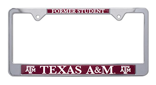 All Metal NCAA TAMU Aggies Alumni License Plate Frame (Texas ()