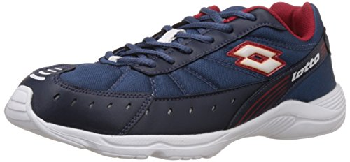 Lotto Men's Truant II Blue and Red Mesh Running Shoes - 8...