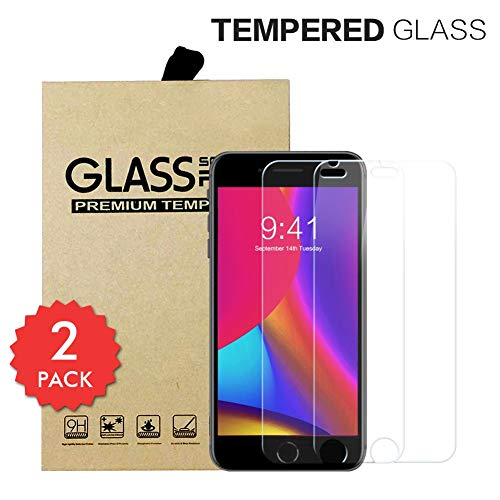 Xawy Tempered Glass Screen Protector,High Definition Clarity Tempered Glass Film for Apple iPhone 8 Plus 7 Plus 6s Plus 6 Plus 5.5-Inch,Anti-Fingerprint,9H Hardness, Anti-Scratch,3D Touch(2PAC