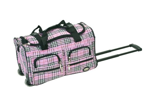 rockland-luggage-22-inch-rolling-duffle-bag-pink-cross-plaid-one-size