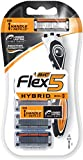 BIC Flex5 Hybrid Men's 5-Blade Razor, 1 Handle, 4 Cartridges
