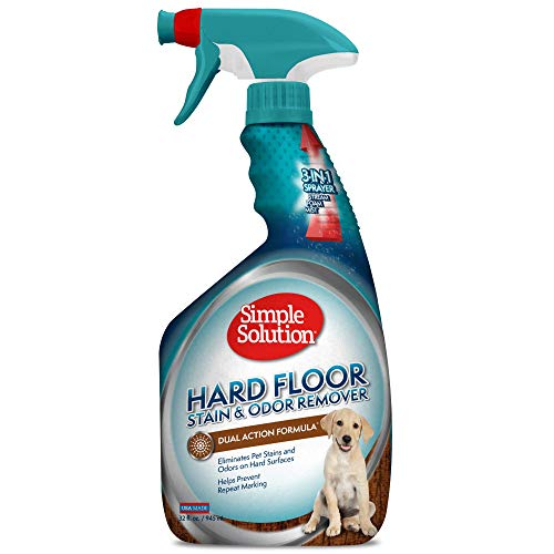Simple Solution Hard Floor Pet Stain and Odor Remover | Dual Action Cleaner for Sealed Hardwood Floors | 32 Ounces