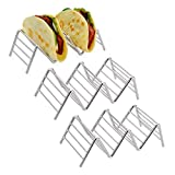 3-pack Taco Holder, Amazer Taco Stand Stainless Steel Rustproof Taco Rack Hold 2 or 3 Hard or Soft Taco Shells Taco Truck Tray Style Oven Safe for Baking