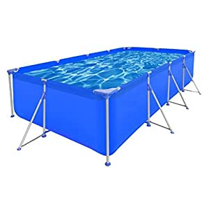 "SKB Family Above Ground Swimming Pool Steel Rectangular 12' 11"" x 6' 10"" x 2' 7"" Wall Liner Meadows"