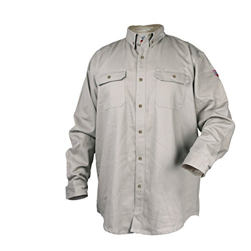 Black Stallion TruGuard 300 NFPA 2112 Flame-Resistant Cotton Work Shirt - LARGE by Black Stallion