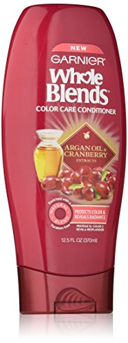 Garnier Whole Blends Conditioner with Argan Oil & Cranberry Extracts, Color Care, 12.5 fl. oz. (Argan Oil Blend)