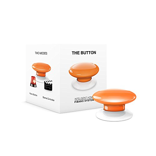 Fibaro FGPB-101-8 US The Button, Z-Wave Scene Controller,...