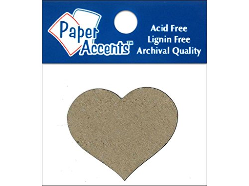 Accent Design Paper Accents ADPSHAPE.116 Small Heart Natural Chipboard Chip Shape ()