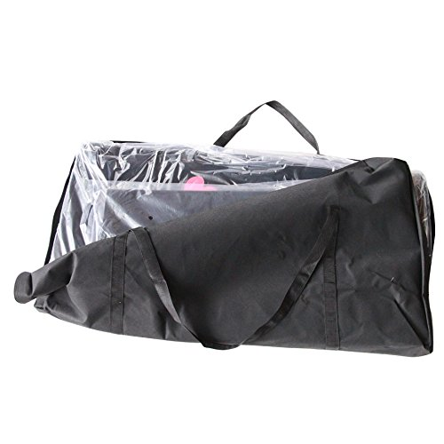 3 in 1 Folding Casino Texas Hold'em Table Top Black (Poker/Craps/Roulette) with Carrying Bag by IDS Home (Image #7)