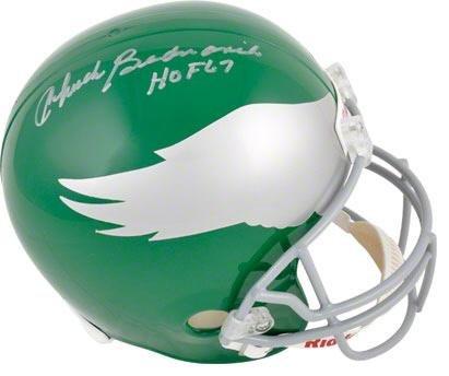 Chuck Bednarik Autographed Riddell Full Size Helmet W/