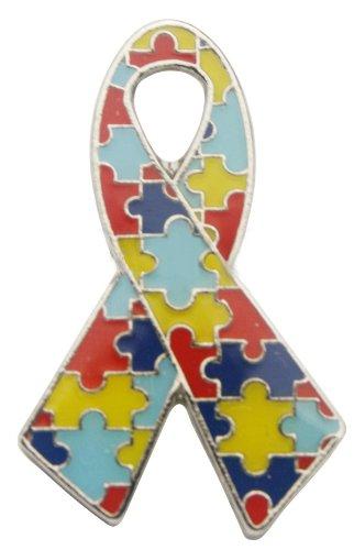 Autism Awareness Ribbon Pin Fundraiser 10 Pack -