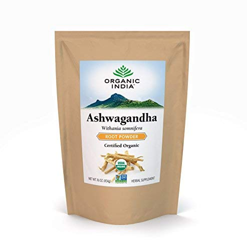 (ORGANIC INDIA Ashwagandha Bulk Herb Powder, 1 lb)