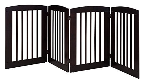 BarkWood Pets Freestanding Pet Gate with Four 24
