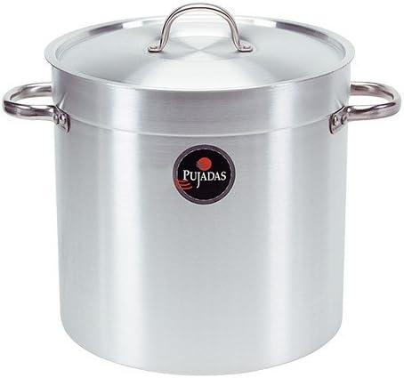 Marmite traiteur 100 litres /Ø 50 cm x Haut 50 cm aluminium avec couvercle