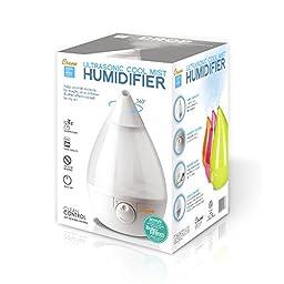 Crane Drop Ultrasonic Cool Mist Humidifier – White