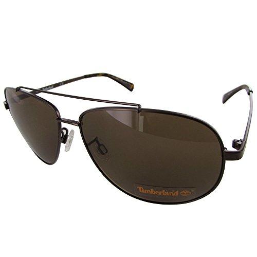 Timberland Mens TB7137 Wire Rim Aviator Fashion Sunglasses, Bronze/Brown (Eyeglasses Timberland Women)