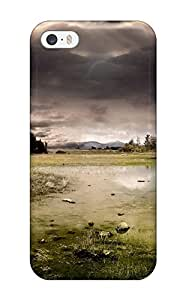High-quality Durability Case For Iphone 5/5s(kingdom Of Heaven Castle Ruins Green Plain Dark Skies Nature Other)