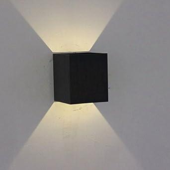 ShouYu Lámpara de Pared Led Salón Dormitorio cama Lámparas de aluminio cuadrados animación instantánea paredes luz luz escalera minimalista moderno Creative /6X6X7cm.: Amazon.es: Iluminación