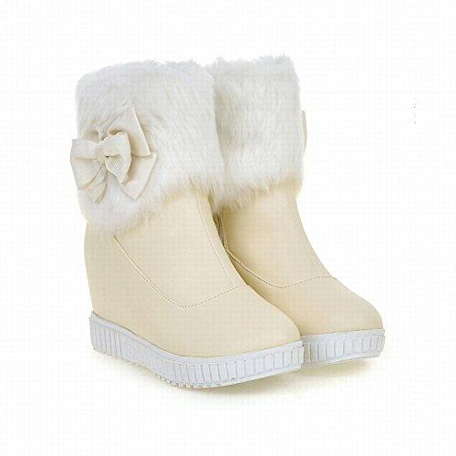 Women's Cute Bows High Heel Platform Snow Boots