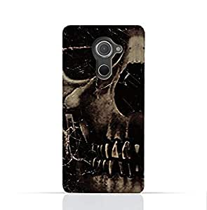 Blackberry Dtek 60 TPU Silicone Case With Dark Skeleton Pattern