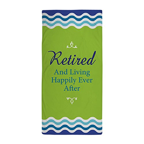 CafePress - Happily Retired - Large Beach Towel, Soft 30