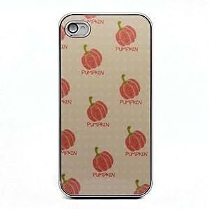 HP-Estilo de dibujos animados patrón de calabaza dura protectora del caso para el iPhone 4/4S